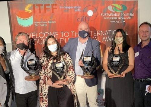 SOAPBOX FILMS WITH CITY OF CAPE TOWN S JAMES VOS CAPE TOWN TOURISM S BRIONY BROOKS AND JAMES BYRNE FROM THE ITFFA