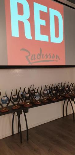 TROPHIES WITH RADISSON RED LOGO